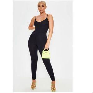 Black Strappy Plungle Jumpsuit